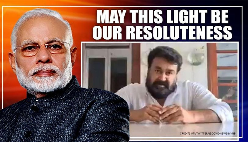 Mohanlal terms PM Modi's '9 mins' appeal 'spirit-lifting', hopes it turns 'beacon of hope'