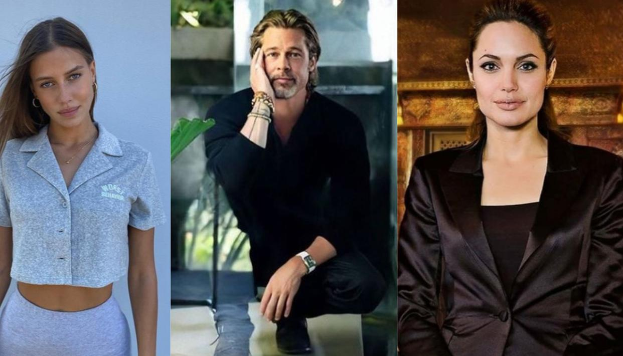 Brad Pitt's girlfriend takes a jibe at ex-wife Angelina Jolie; check out how he reacted - Republic World