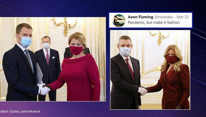 Slovakian President Wears Face Masks Matching Her Dresses