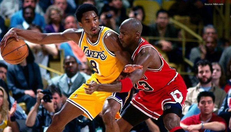Michael Jordan and Kobe Bryant