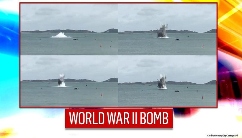 World War II bomb discovered in Guernsey; Detonated by Britain's Royal Navy on Monday