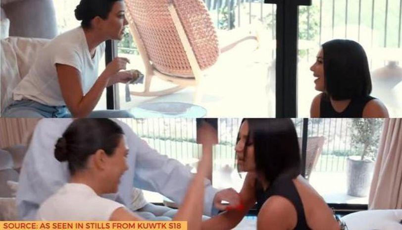 why did kim and kourtney kardashian fight