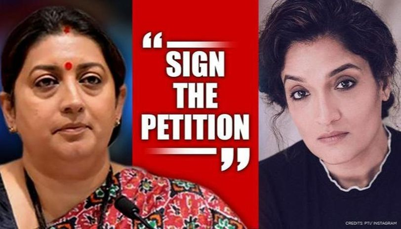 Celebs share petition on domestic violence in lockdown, Smriti Irani terms it 'fake news'