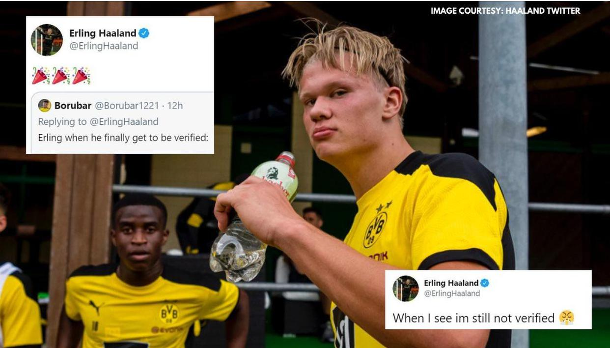 Erling Haaland Finally Gets Verified On Twitter After Complaining With Serious Picture