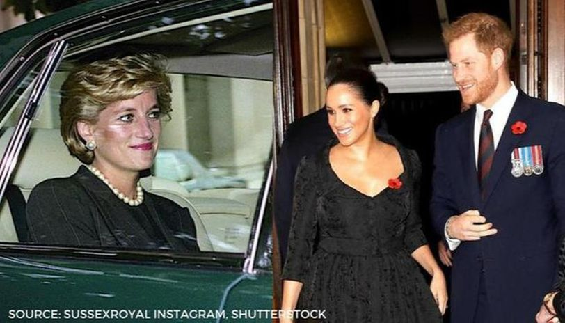 meghan markle wears princess diana s watch as she poses with prince harry in new portrait meghan markle wears princess diana s