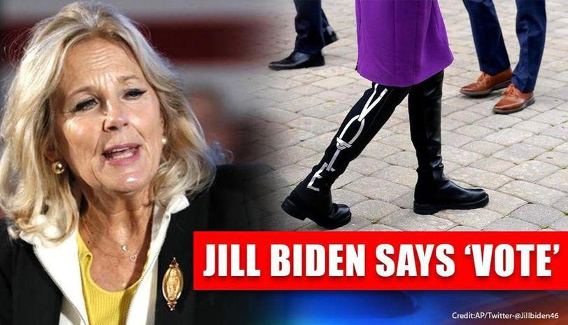 Jill Biden wears limited edition Stuart Weitzman boots that read 'vote', Netizens react