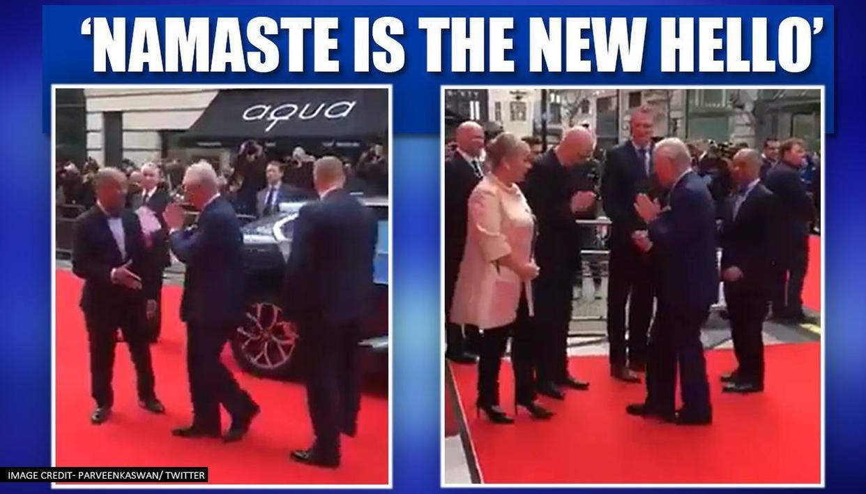 Coronavirus Prince Charles ditches handshake greets people with Namaste