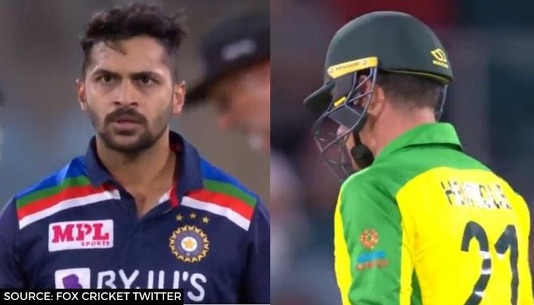 Shardul Thakur Glares At Moises Henriques Angrily After Dismissal In 3rd Odi Watch Video
