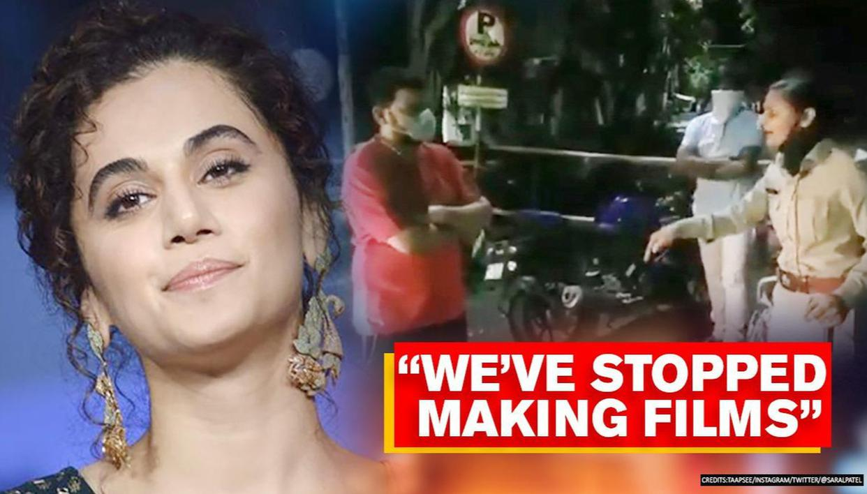Taapsee Pannu has sarcastic response on Gujarat cop's transfer for confronting MLA's son - Republic World