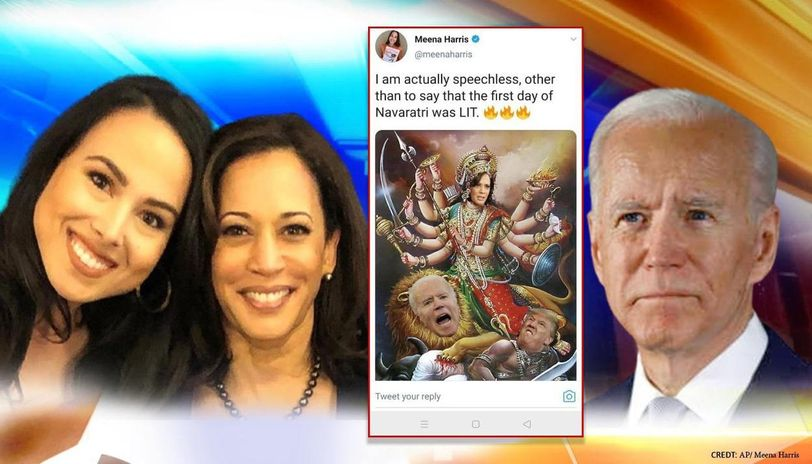 Hindu Groups In Us Demand Apology From Kamala Harris Camp For Morphing Maa Durga S Image