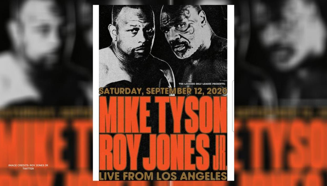 mike tyson vs roy jones jr former world champs to meet in an 8 round blockbuster bout mike tyson vs roy jones jr former
