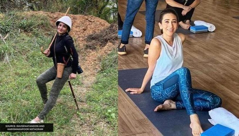 Raveena Tandon and Karisma Kapoor