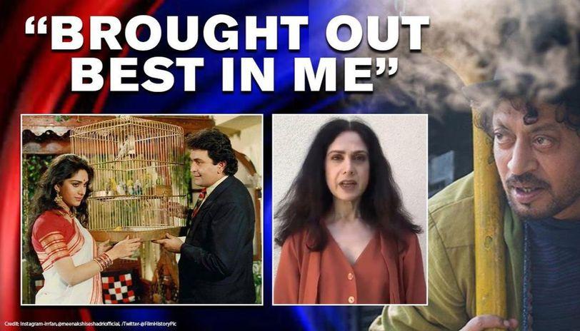 Meenakshi Seshadri gives touching tribute to 'Damini' co-star Rishi Kapoor, Irrfan Khan