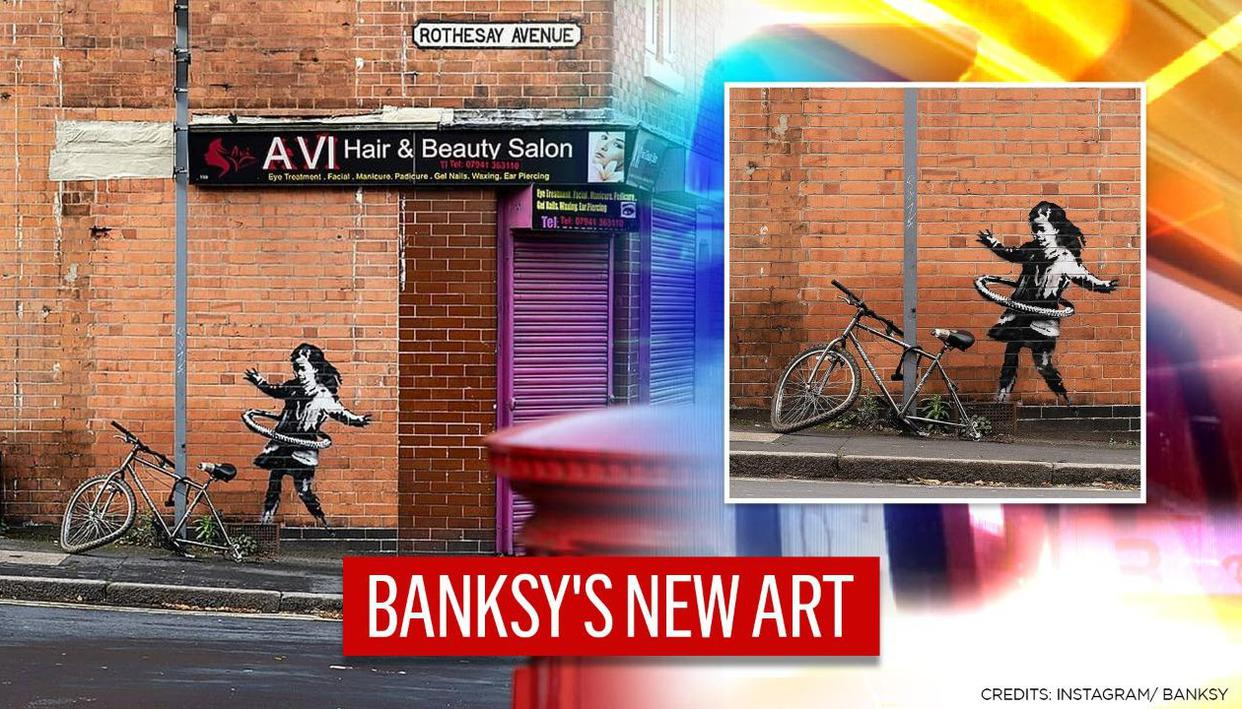 British Street Artist Banksy confirms new artwork of girl with hula-hoop, in Nottingham - Republic World