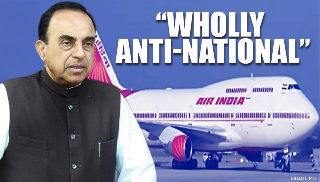 'Auction our government': Subramanian Swamy reacts on Air India sale