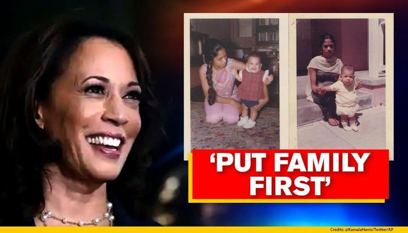 Kamala Harris Talks About Her Mother At Dnc Says She Taught To Put Family First