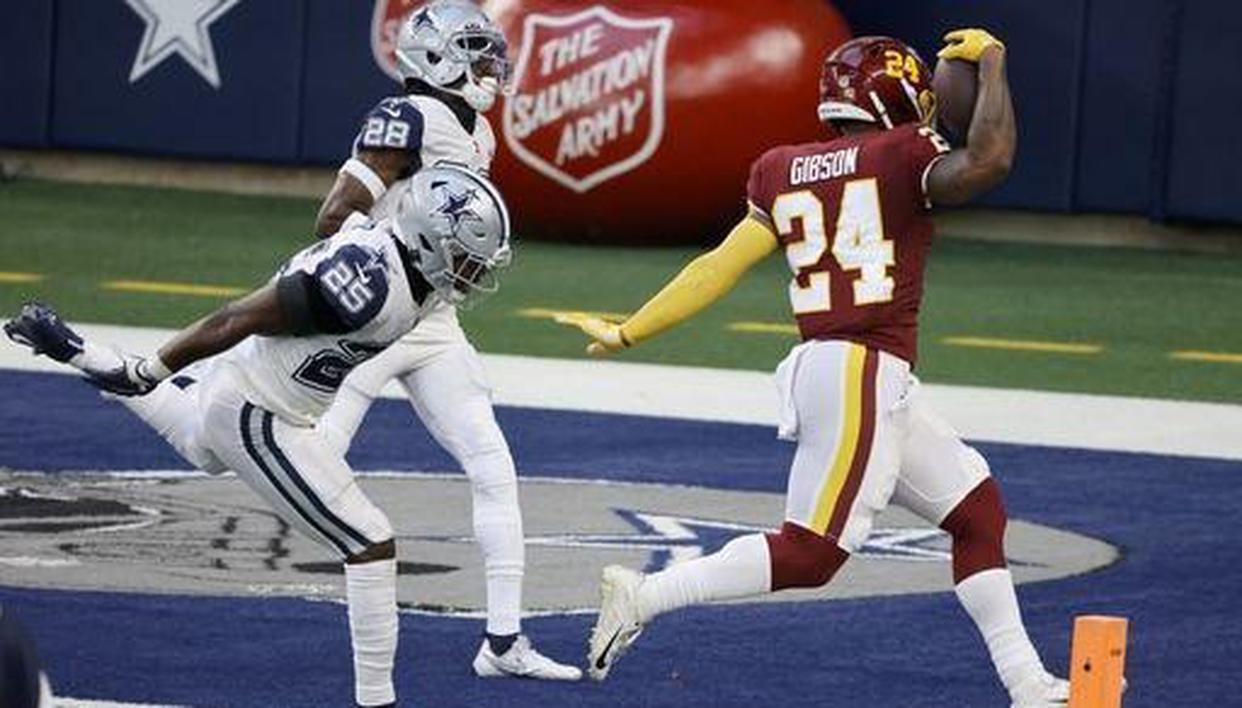 Gibson, Washington roll past Cowboys 41-16 on Thanksgiving