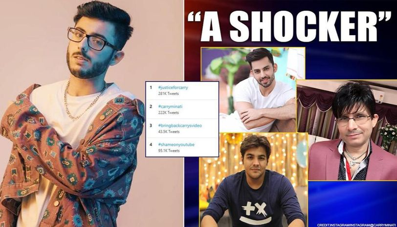 CarryMinati tops trends over deleted video: Celebs back him; KRK hails YouTube for move