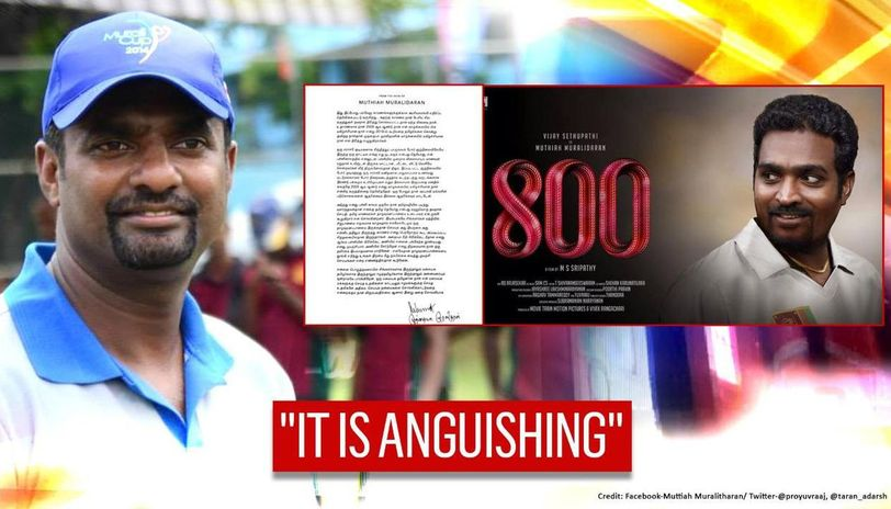 Muttiah Muralitharan releases statement on '800' movie controversy, says quotes 'twisted'
