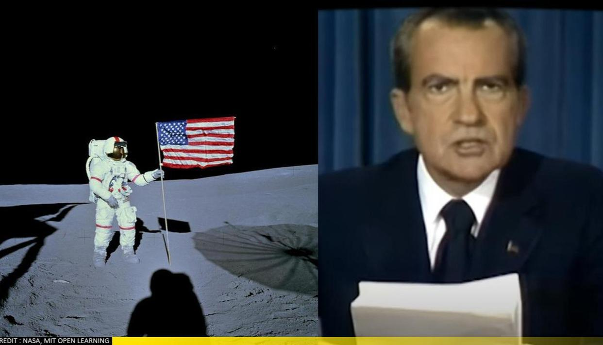 Former US Prez Nixon's video announcing 'failure' of Apollo 11 goes viral; Know the truth