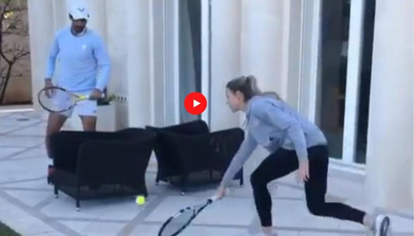 Rafael Nadal Loses Rally To Sister During Unique Tennis Game At Home Watch Video Republic World
