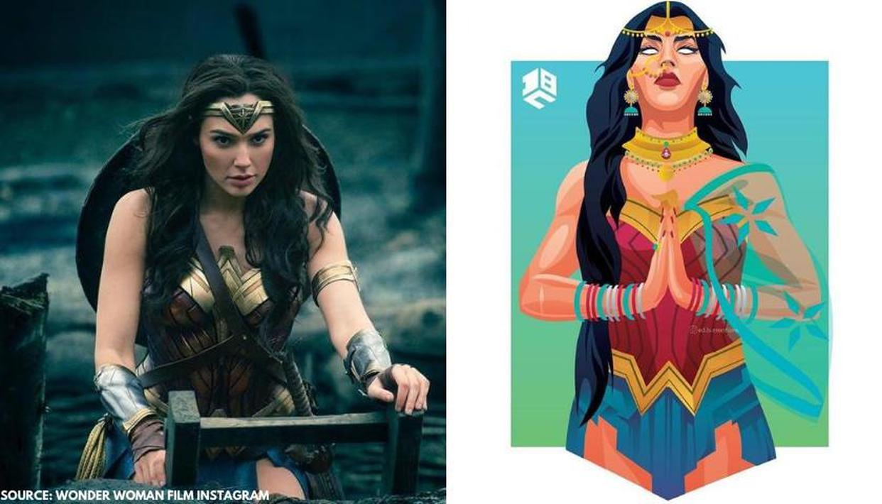 Artist behind viral photo of 'Wonder Woman' reveals what inspired him for illustration - Republic World