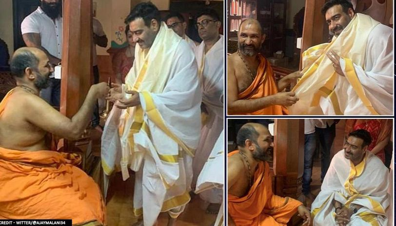 When Ajay Devgn visited Kukke Subhramanyam Temple in Mangaluru; watch video