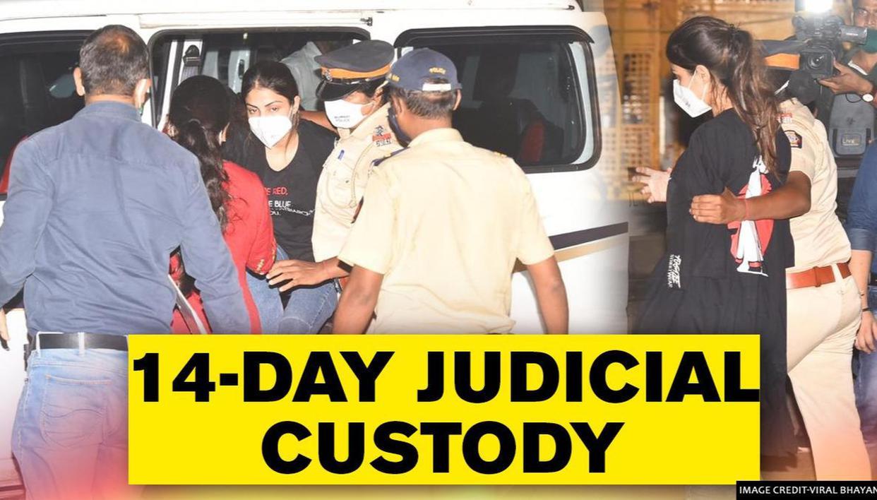 Rhea Chakraborty sent to 14-day judicial custody; NCB opposes bail application - Republic World - Republic World
