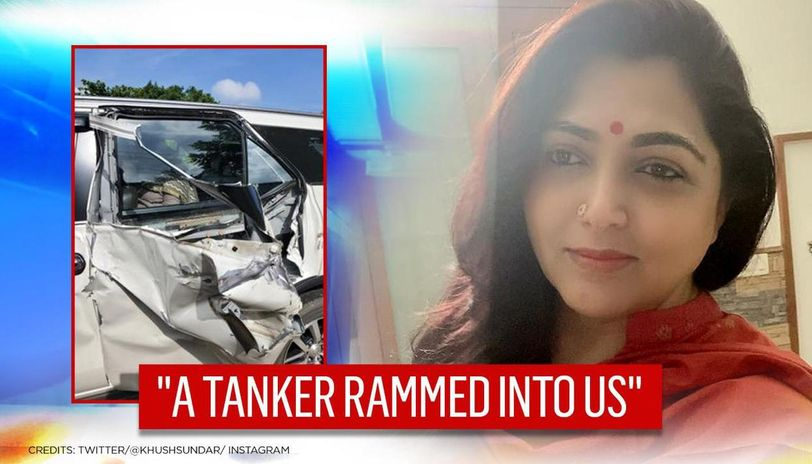 BJP's Kushboo Sundar's car smashed in accident en route Vel Yatra, says 'police probing'