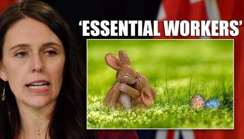New Zealand PM assures children, calls Easter bunny and Tooth fairy essential workers