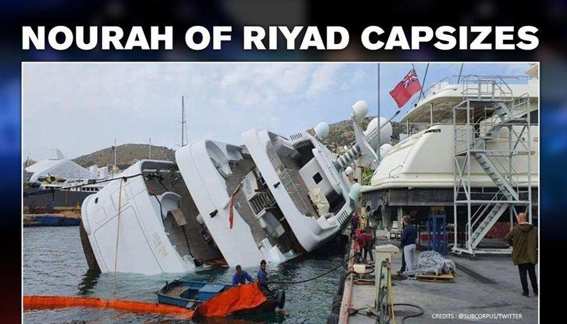 Saudi Prince's super luxury yacht capsizes in Athens, Greece
