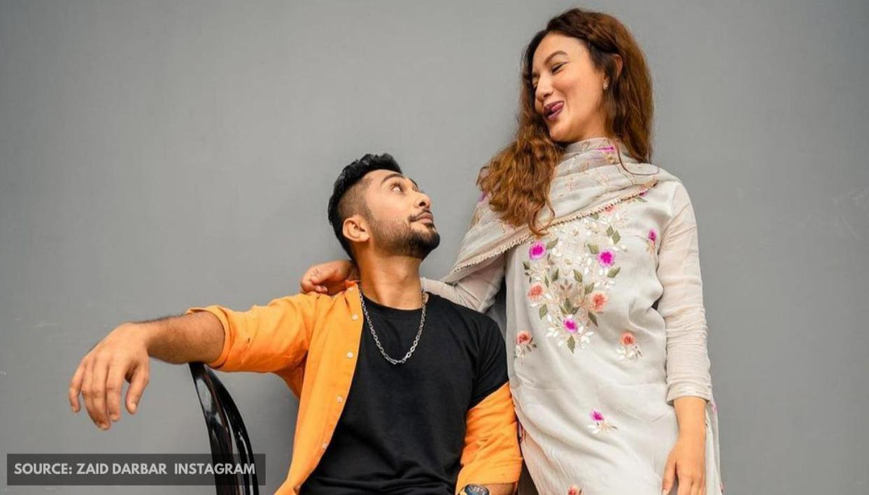 Gauahar Khan & Zaid Darbar shell out major couple goals with mushy photograph - Republic World