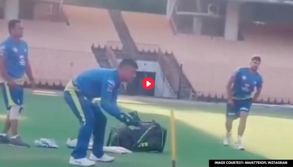 IPL 2020: MS Dhoni displays rare wicketkeeping drills in CSK nets, watch video thumbnail