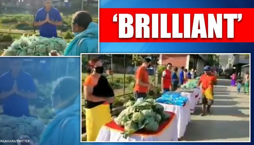 Manipur: Video of relief material distribution with social distancing surfaces