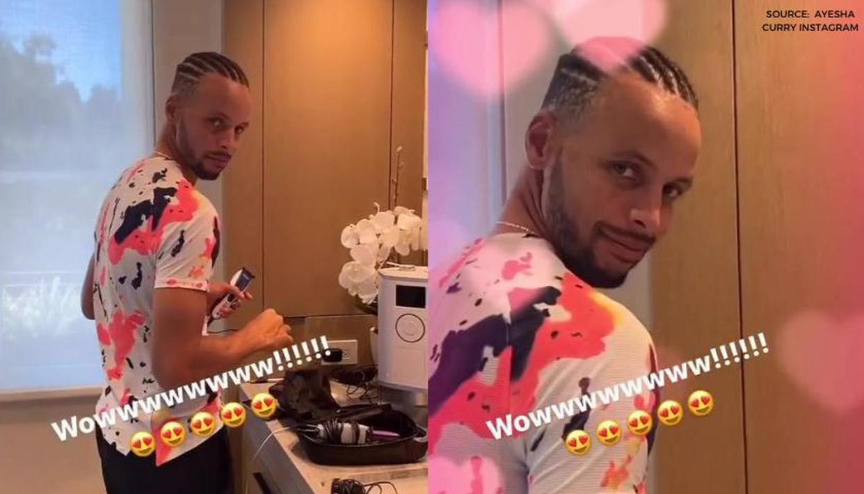 Stephen Curry Sports New Hairdo As Wife Ayesha Curry Drools Over Warriors Star