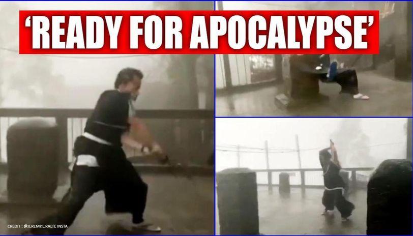 Mizoram man shows Samurai moves amid storm, internet calls him 'legend'