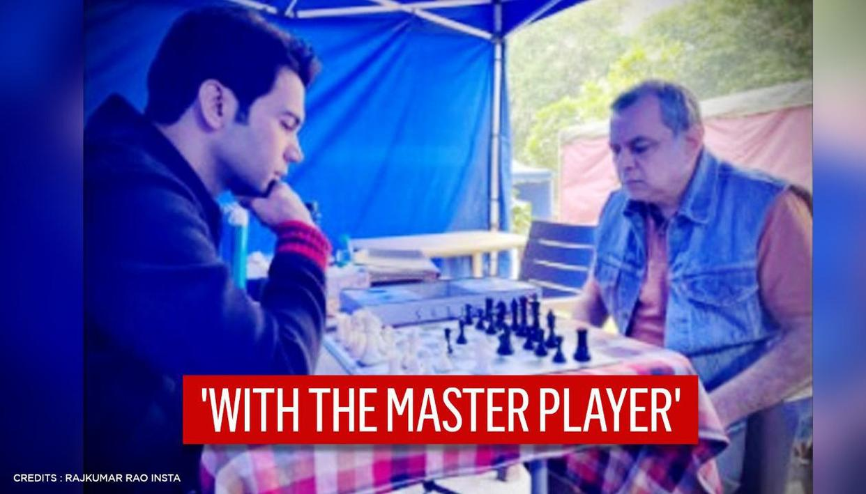 Rajkummar Rao plays chess with 'master player' Paresh Rawal, shares picture from set
