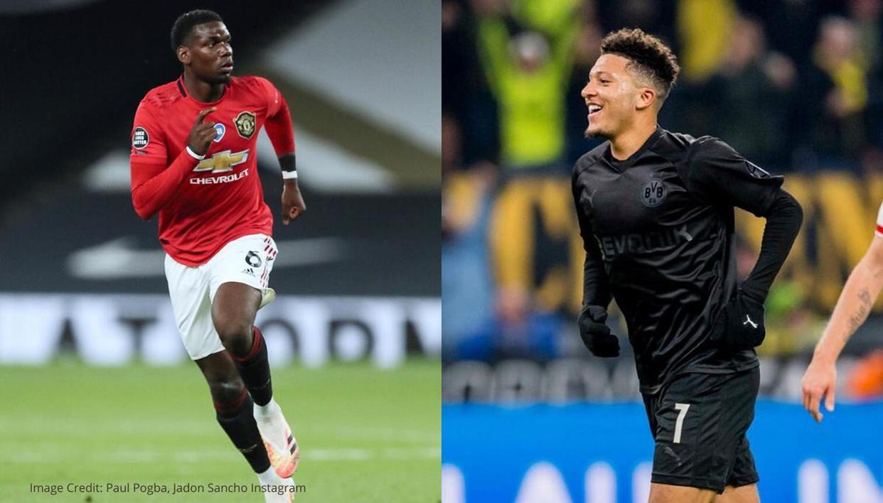 Jadon Sancho lavishes praise on Paul Pogba's skills, sends Man United fans into a frenzy - Republic World