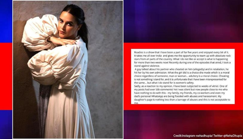Neha Dhupia breaks silence on 'Roadies' comment row: Unacceptable that close ones abused