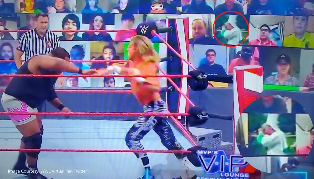 WWE RAW's Thunderdome sees fan playing KKK rally video & Hitler salute despite warning - Republic World