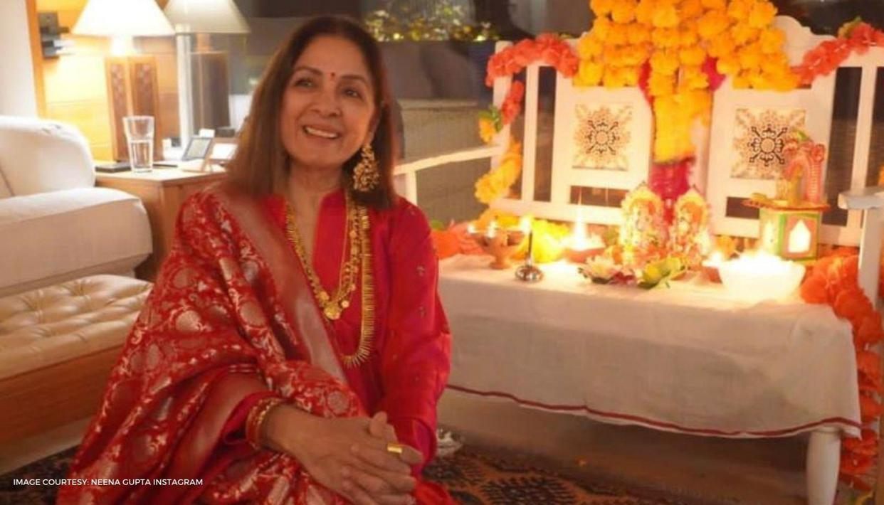 Neena Gupta gears up for a busy shooting schedule; wishes fans a sweet good morning