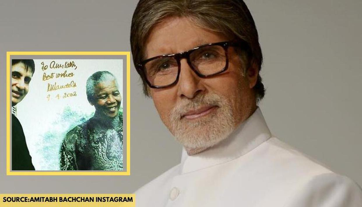 Amitabh Bachchan was gifted THIS picture by the great Nelson Mandela