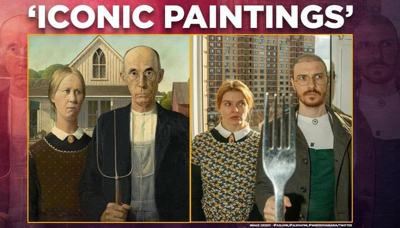 Iconic paintings given amusing twists on Twitter,  internet in splits