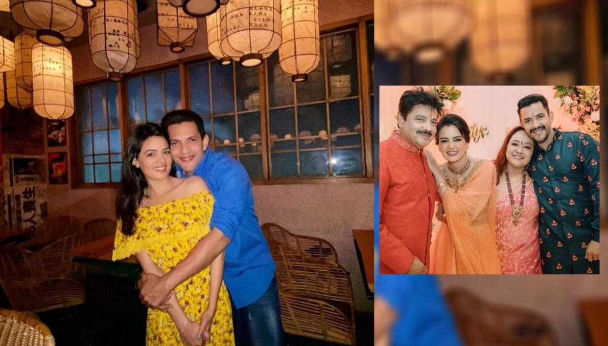 Aditya Narayan and Shweta Agarwal's Tilak ceremony pictures and videos go viral; Watch