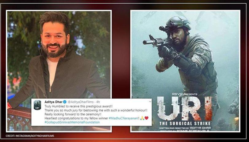'Uri' director Aditya Dhar selected for Gollapudi Srinivas Award, says 'truly humbled'