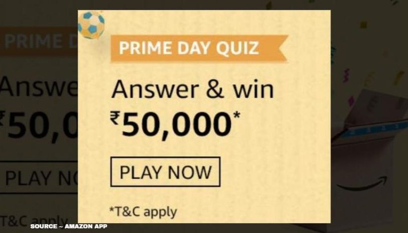 Amazon Prime Day Quiz Answers July 27 Win Rs 50 000 By Answering 5 Questions