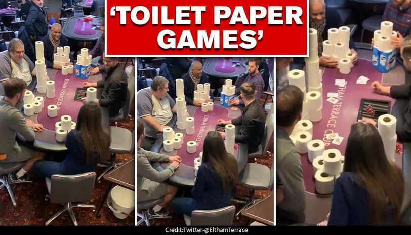 COVID-19 outbreak: People playing poker with toilet paper at London club is worth watching