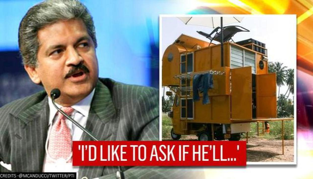 Anand Mahindra says 'Can someone connect us?' after architect makes house on auto-rickshaw