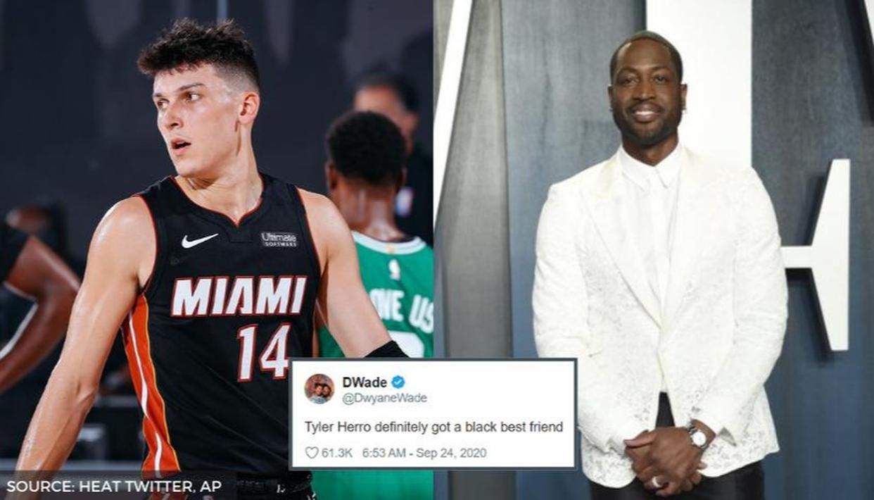 Dwyane Wade Thinks Tyler Herro Has A Black Best Friend After His 37 Pts Performance Republic World
