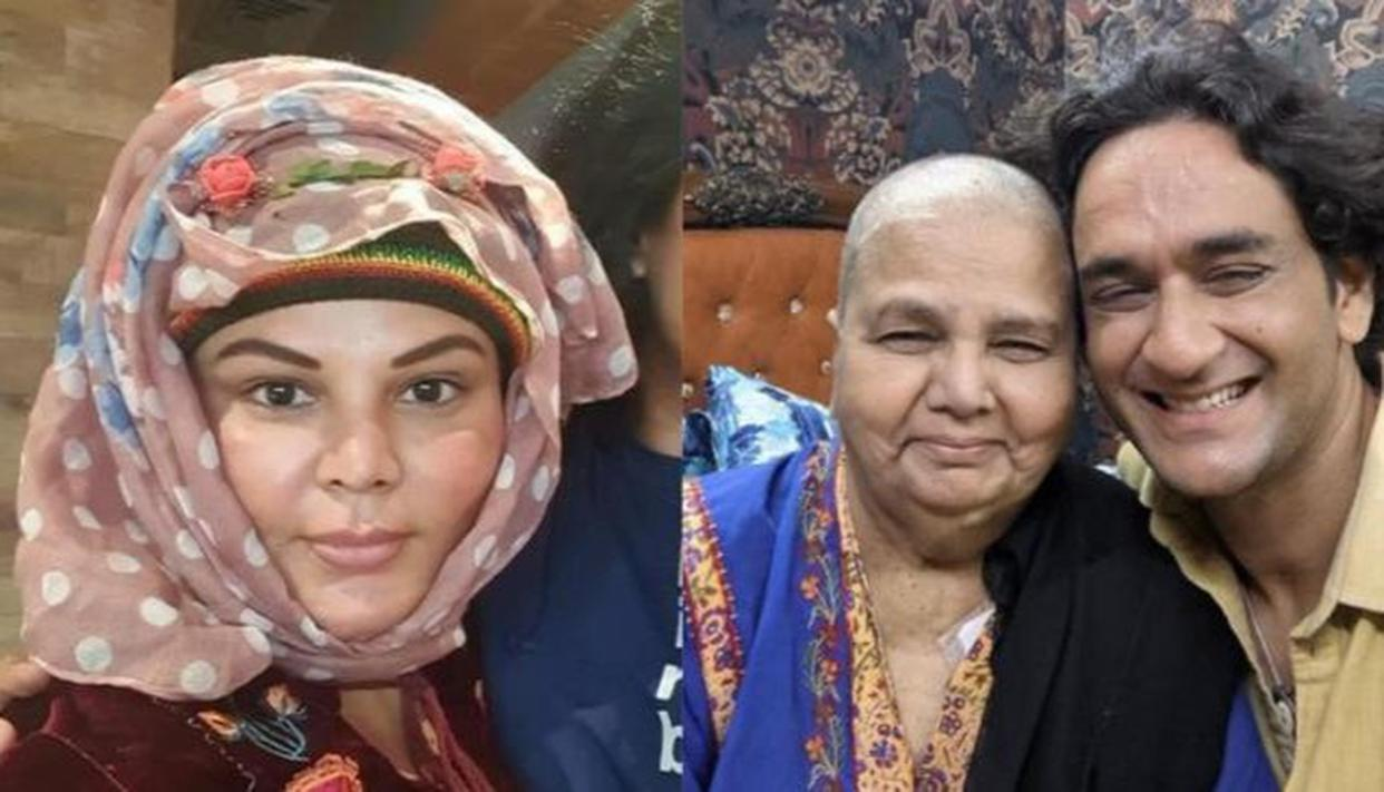 Rakhi Sawant's mother returns home after chemotherapy session; Vikas Gupta meets her